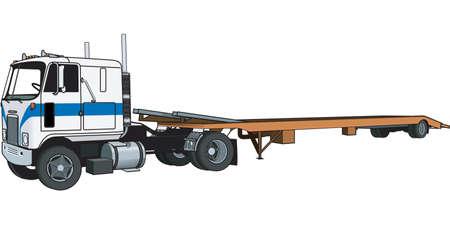 Tractor Trailer Illustration 向量圖像