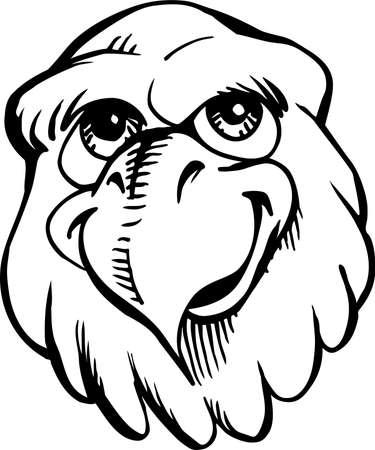 Casual eagle mascot illustration. Иллюстрация