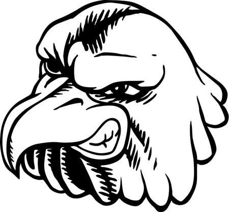 Eagle mascot illustration. Ilustração