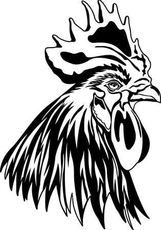 Rooster head illustration.