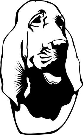 Bloedhond illustratie. Stock Illustratie