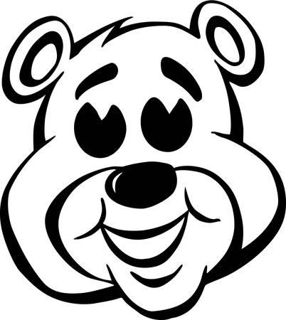 Bear Face Cartoon