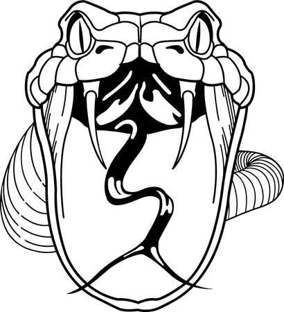 Illustration du serpent à sonnettes. Vecteurs