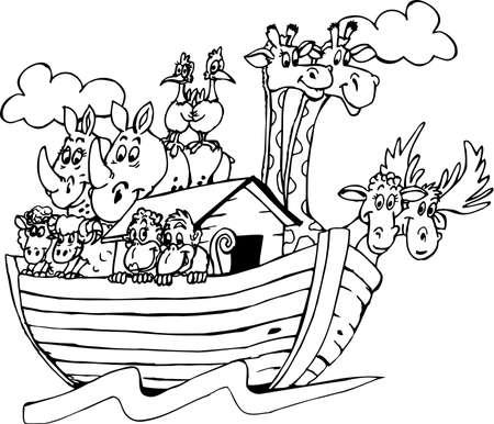 Noahs Ark Cartoon. Illustration