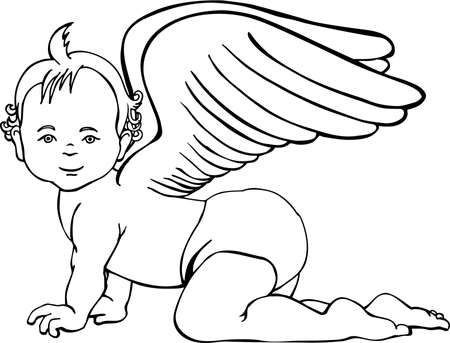 Little Angel Illustration.