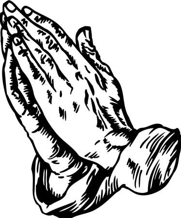 Praying Hands Illustration. Vettoriali