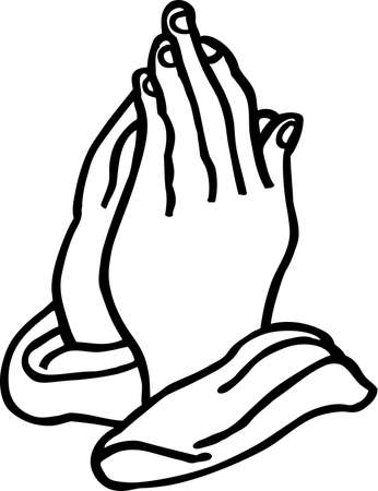 Praying Hands Illustration. Иллюстрация