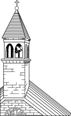 교회 첨탑 일러스트