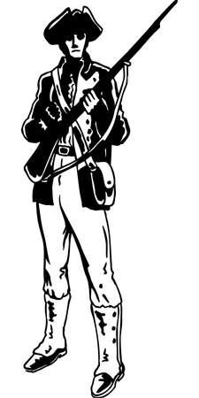 Minuteman Illustratie Stockfoto - 85864651