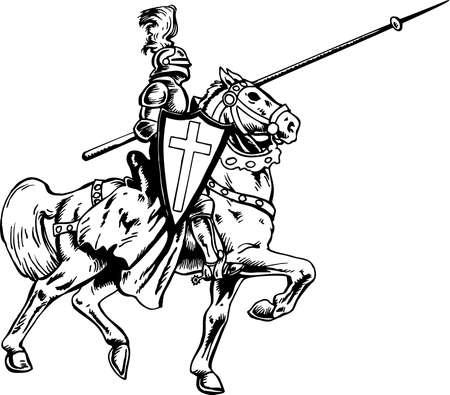 Mounted Knight Illustration