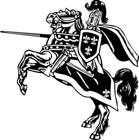 Illustration du chevalier monté