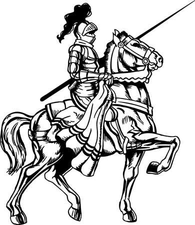 Ilustracja Rycerz Konny