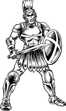 Ilustración de soldado romano Foto de archivo - 85864657