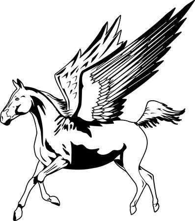 Pegasus-Illustration Standard-Bild - 85864667