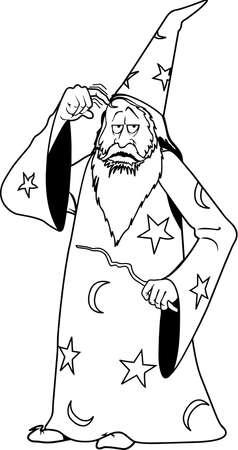 Zauberer-Karikatur Standard-Bild - 85864672