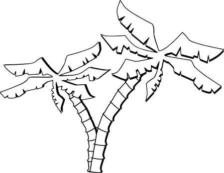 Palmbomen Illustratie Stockfoto