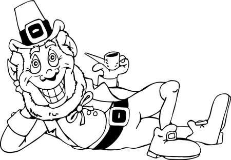 leprachaun: Leprechaun Cartoon. Illustration