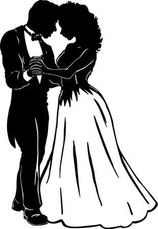 Prom Couple Illustration. Çizim