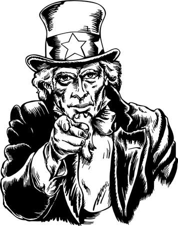 Uncle Sam Illustration. Illustration
