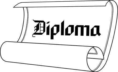 Diploma Illustration.