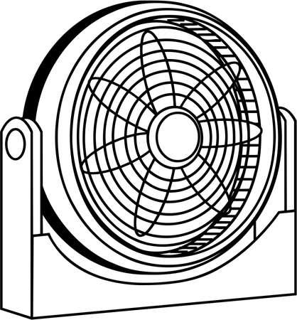 LEctrique fan illustration Banque d'images - 86300557