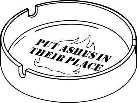 Ashtray Illustration