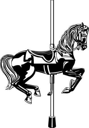 Carousel Horse Illustration Фото со стока - 86300568