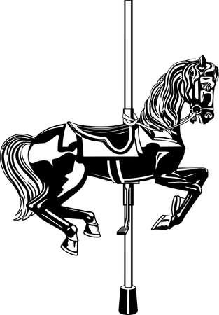 Karussell Pferd Illustration Vektorgrafik