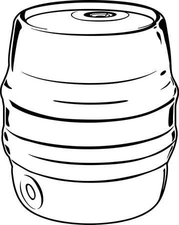 Beer Keg Illustration