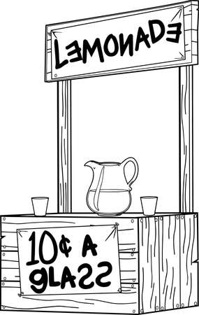 レモネード スタンドの図  イラスト・ベクター素材