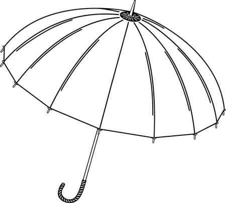 Ilustración del paraguas Foto de archivo - 86300589