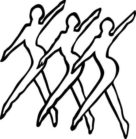 Dance Line Illustration