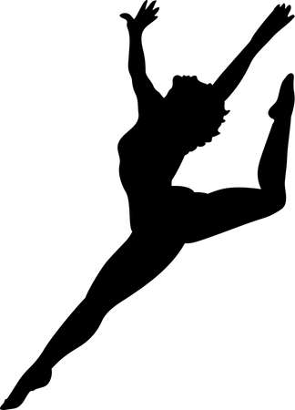 Dancer Silhouette Illustration Çizim