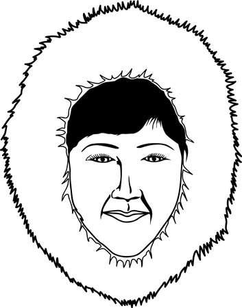 Eskimo Woman Illustration Фото со стока - 86386488