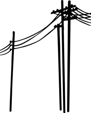Power Lines Illustration. Ilustrace