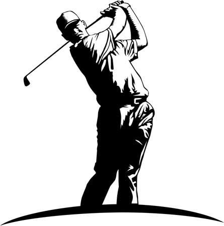 Golfer Illustration.