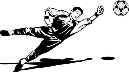 Voetbalspeler illustratie.