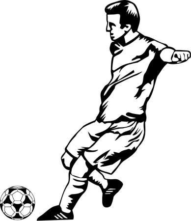 サッカー選手のイラスト。 写真素材 - 86481607