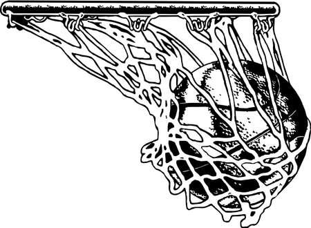 Basketball Net Illustration.