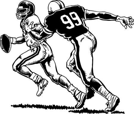Football Player Illustration. Ilustração