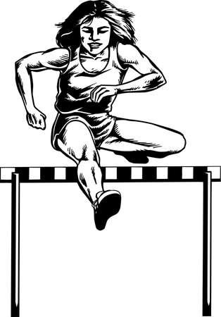 Hurdler Illustration.