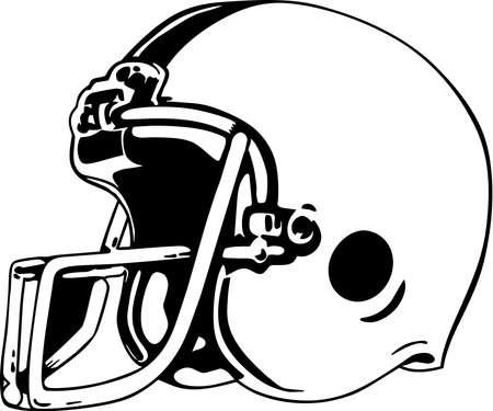 フットボールのヘルメットのイラスト。