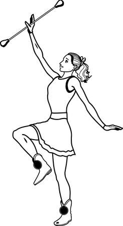 Majorette Illustration Illustration