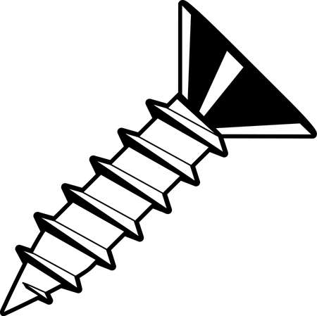 metal fastener: Sheet Metal Screw Illustration