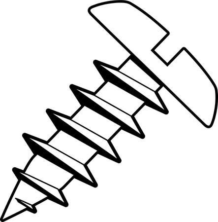 Sheet Metal Screw Illustration