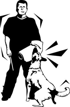 Attack Dog Training Illustration
