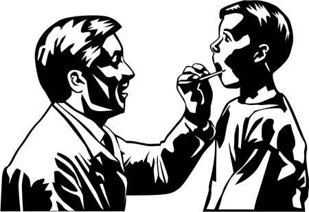 Doctor and Boy Illustration