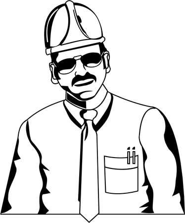 Construction Engineer Illustration