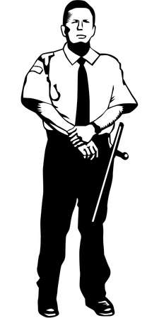 Security Guard Illustration
