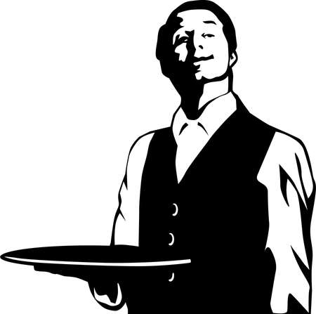 Waiter Illustration